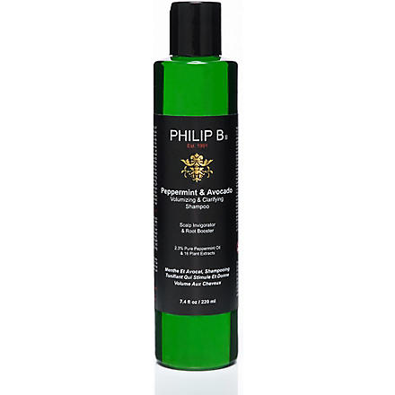 PHILIP B Peppermint and Avocado volumizing & clarifying shampoo 220ml