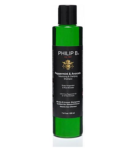 PHILIP B Peppermint and Avocado volumizing & clarifying shampoo 220ml