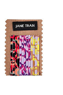 JANE TRAN Swirl print bobby pin set