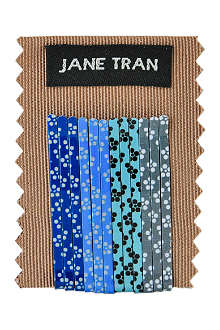 JANE TRAN Blue petals bobby pin set