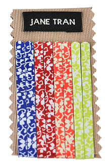 JANE TRAN Hawaiian print bobby pin set