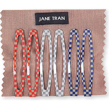 JANE TRAN Checker Board clip set