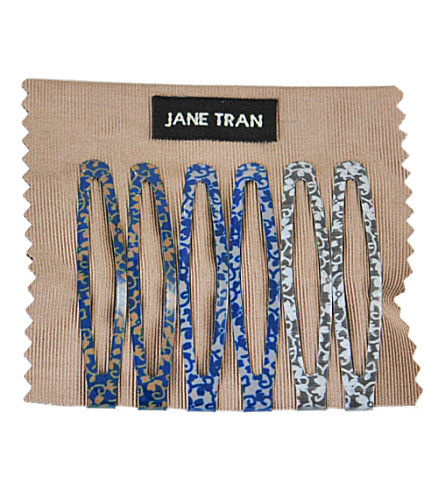 JANE TRAN Flower vine clip set
