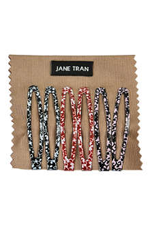 JANE TRAN Neutral flower vine clip set