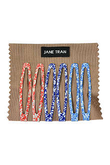 JANE TRAN Bright flower vine clip set