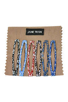 JANE TRAN Assorted flower vine clip set