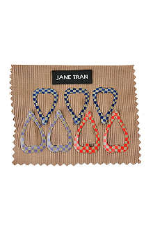 JANE TRAN Small bright pattern heart clip set