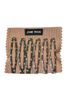 JANE TRAN Black deco spark clip set