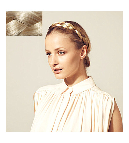 HERSHESONS The chunky braided headband (22+swedish+blonde