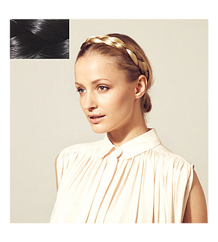 HERSHESONS The chunky braided headband (Sm125 black