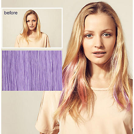HERSHESONS Instant highlights clip in hair piece (Lilac