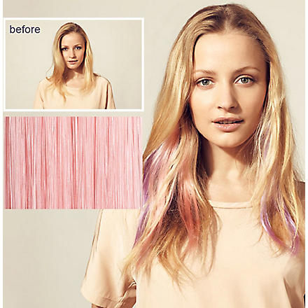 HERSHESONS Instant highlights clip in hair piece (Pink