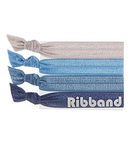 RIBBAND Denim hair ties