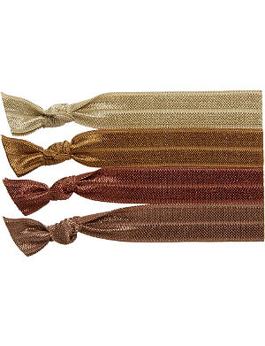 RIBBAND Mid brown hair ties