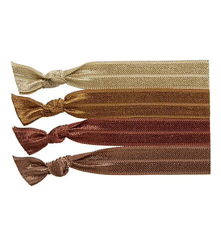 RIBBAND Mid brown hair ties