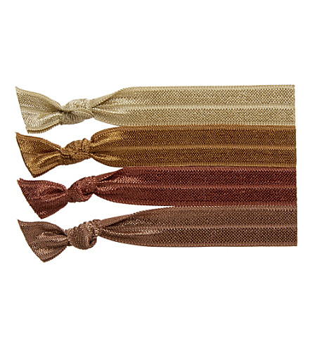RIBBAND Mid brown hair ties (Mid+brown