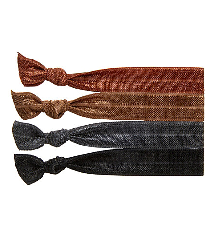 RIBBAND Dark brown hair ties (Dark+brown