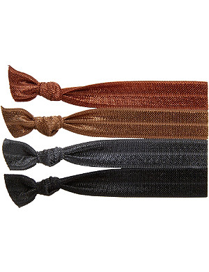 RIBBAND Dark brown hair ties