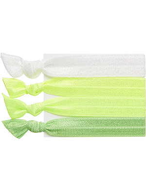 RIBBAND Neon green hair ties