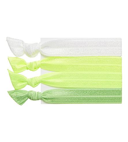 RIBBAND Neon green hair ties