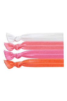 RIBBAND Neon pink hair ties