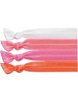 RIBBAND Neon pink hair ties