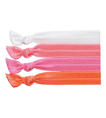 RIBBAND Neon pink hair ties (Pop