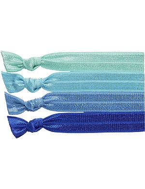 RIBBAND Aqua hair ties