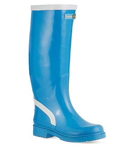 HAVIANAS Contrast rain boots (Turquoise/white