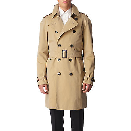 BURBERRY Cotton trench coat (Honey