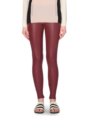 VINCE Panelled leather leggings