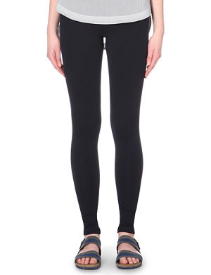 VINCE Scrunched jersey leggings