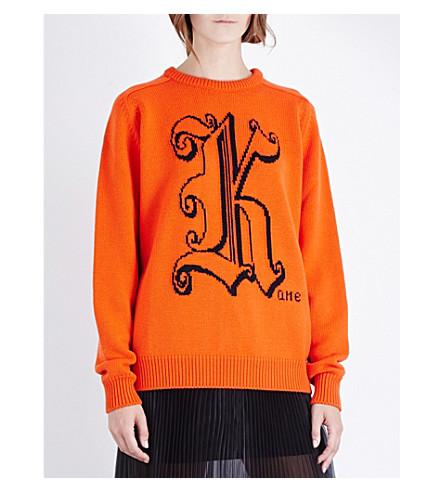 CHRISTOPHER KANE Kane-intarsia wool jumper (Poppy