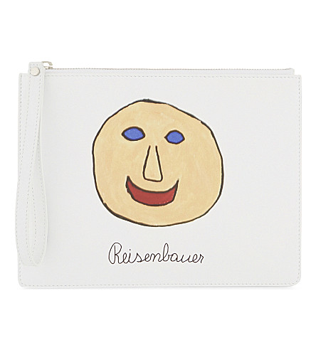 CHRISTOPHER KANE Gugging Art leather clutch (Gugging+smile