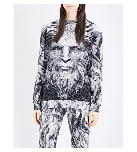 CHRISTOPHER KANE Christopher Kane Beauty and the Beast cotton sweatshirt (Black+white