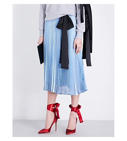 CHRISTOPHER KANE Christopher Kane Beauty and the Beast lamé skirt (Fairy+blue
