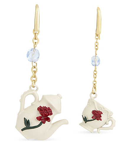 CHRISTOPHER KANE Beauty and the Beast teacup earrings (Gold