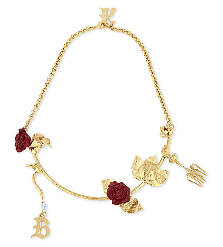 CHRISTOPHER KANE Beauty and the Beast charm necklace (Gold