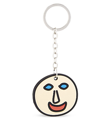 CHRISTOPHER KANE Smiley face rubber keyring (Smiley+face