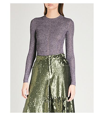 CHRISTOPHER KANE Metallic knitted jumper (Purple