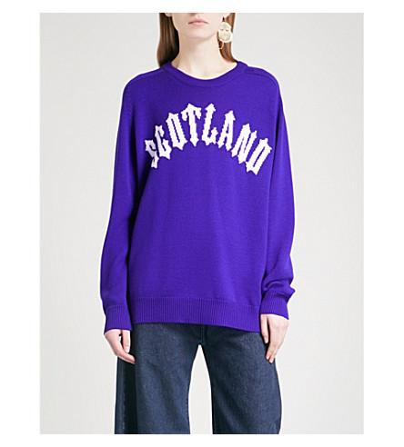 CHRISTOPHER KANE Scotland intarsia wool jumper (Purple