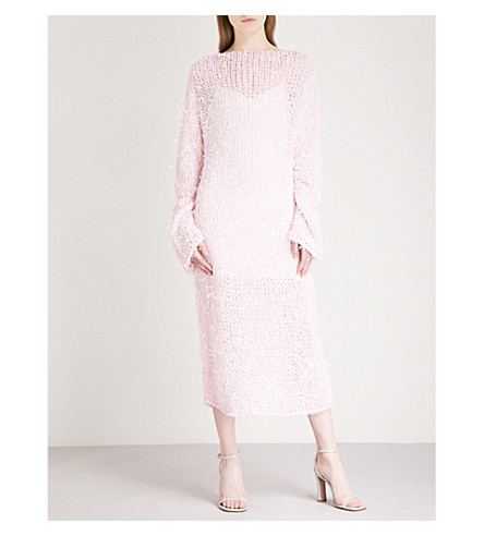 CHRISTOPHER KANE Open knitted dress (Pink
