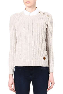 BARBOUR Ryhope cable knit jumper