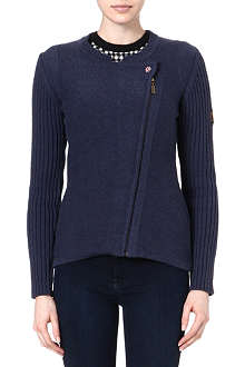 BARBOUR Chatton knitted biker jacket