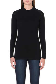 BARBOUR Long-sleeved wool jumper