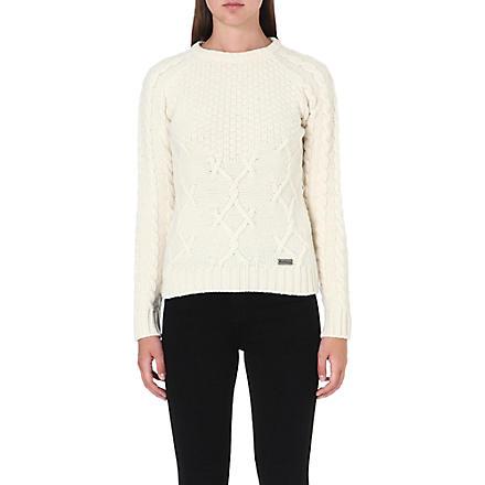 BARBOUR Ursula wool jumper (Vanilla