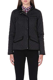 BARBOUR Quilted velvet-trimmed jacket