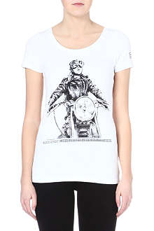 BARBOUR Dureau Joan Biker t-shirt