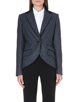 BARBOUR Wool-blend houndstooth jacket