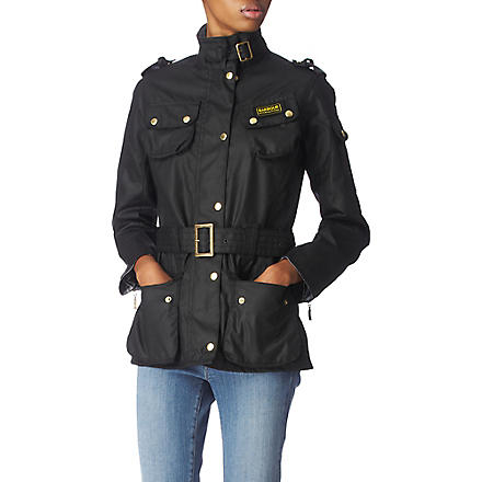 BARBOUR International waxed jacket (Black